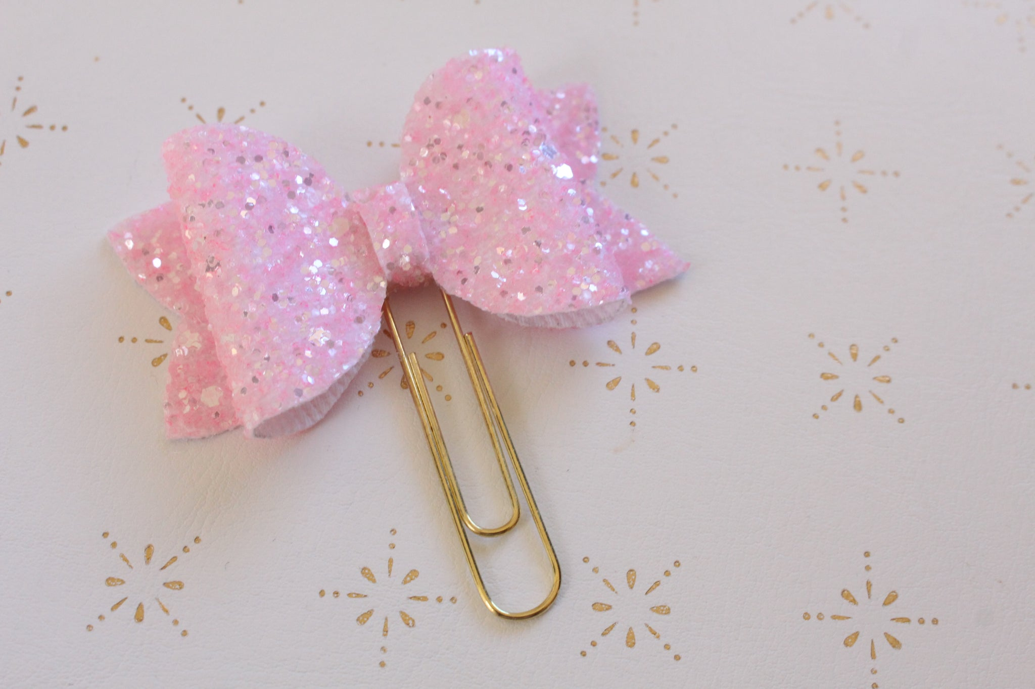 Pink Planner Bow Clip