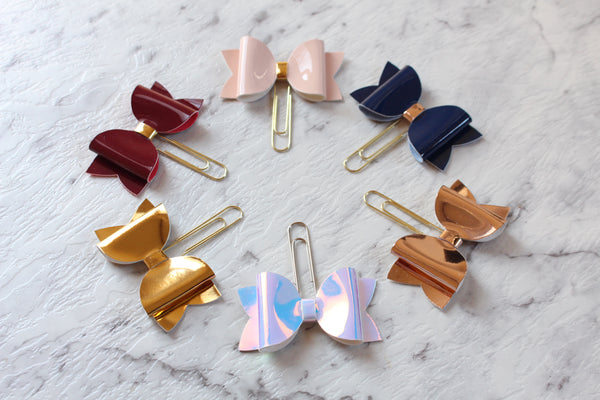 Patent Planner Bow Clip