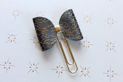 Black and Gold bow clip