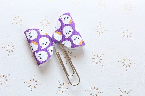 Cute little ghosts Planner bow Clip