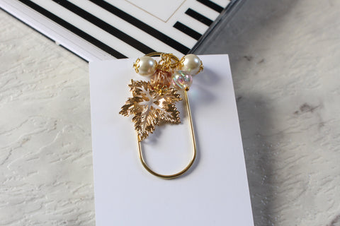 Autumn Falling Leaves Dangle Clip