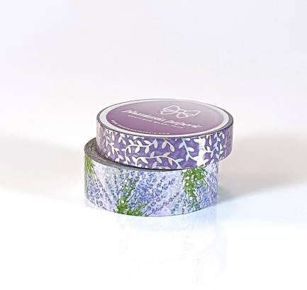 Lavender Fields Washi Tape Duo - with Holo Foil Accents
