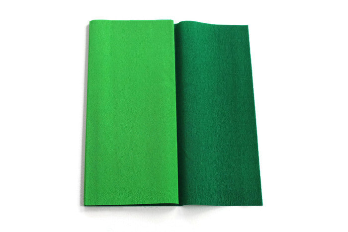 Gloria Doublette Crepe paper / Double sided crepe pape - Light Green & Moss Green