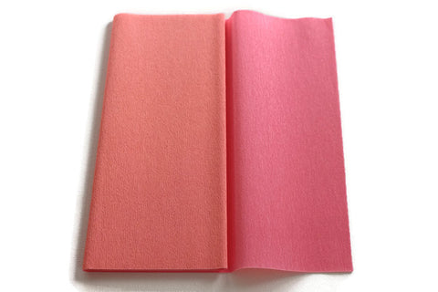 Gloria Doublette Crepe paper / Double sided crepe paper - Light Rose & Pink