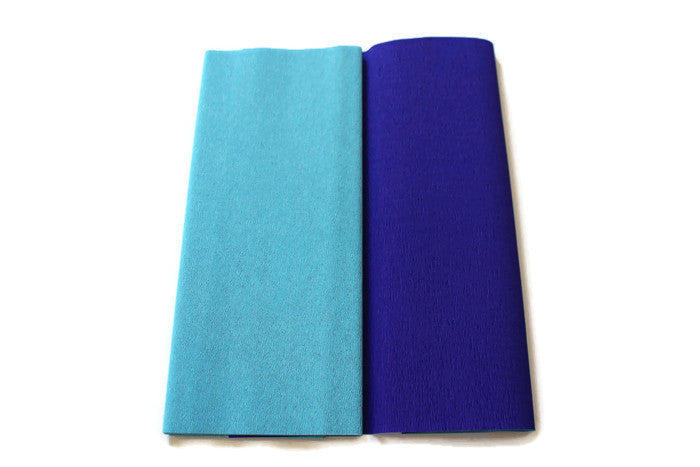 Gloria Doublette Crepe paper / Double sided crepe paper - Lightblue & Blue