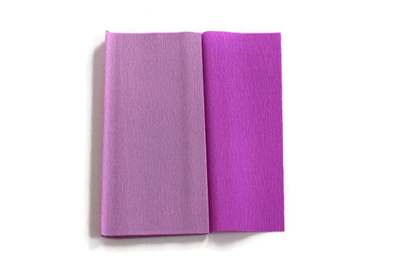 Gloria Doublette Crepe paper / Double sided crepe paper - Lilac & Light Lilac
