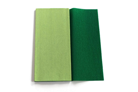 Gloria Doublette Crepe paper / Double sided crepe paper - Lime Green & Moss Green
