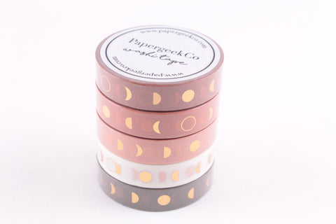 Moonphase Washi Tape - Set of 5