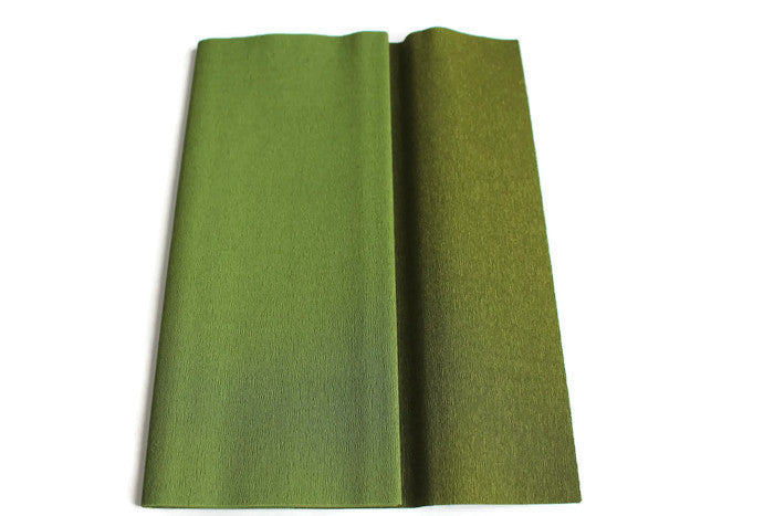 Gloria Doublette Crepe paper / Double sided crepe paper - Olive & Light Olive