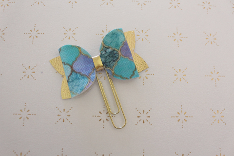 Ornate Print Planner Bow Clip