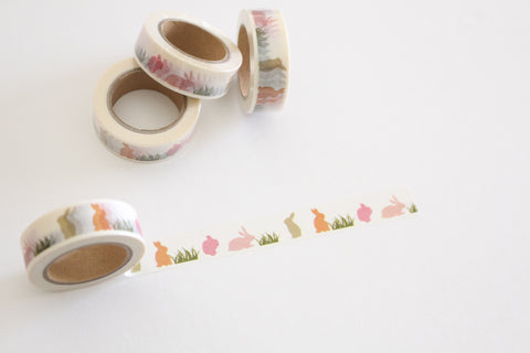 Pastel bunnies washi tape, Easter washi tape