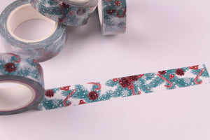 Pinecones and Candy Canes washi tape