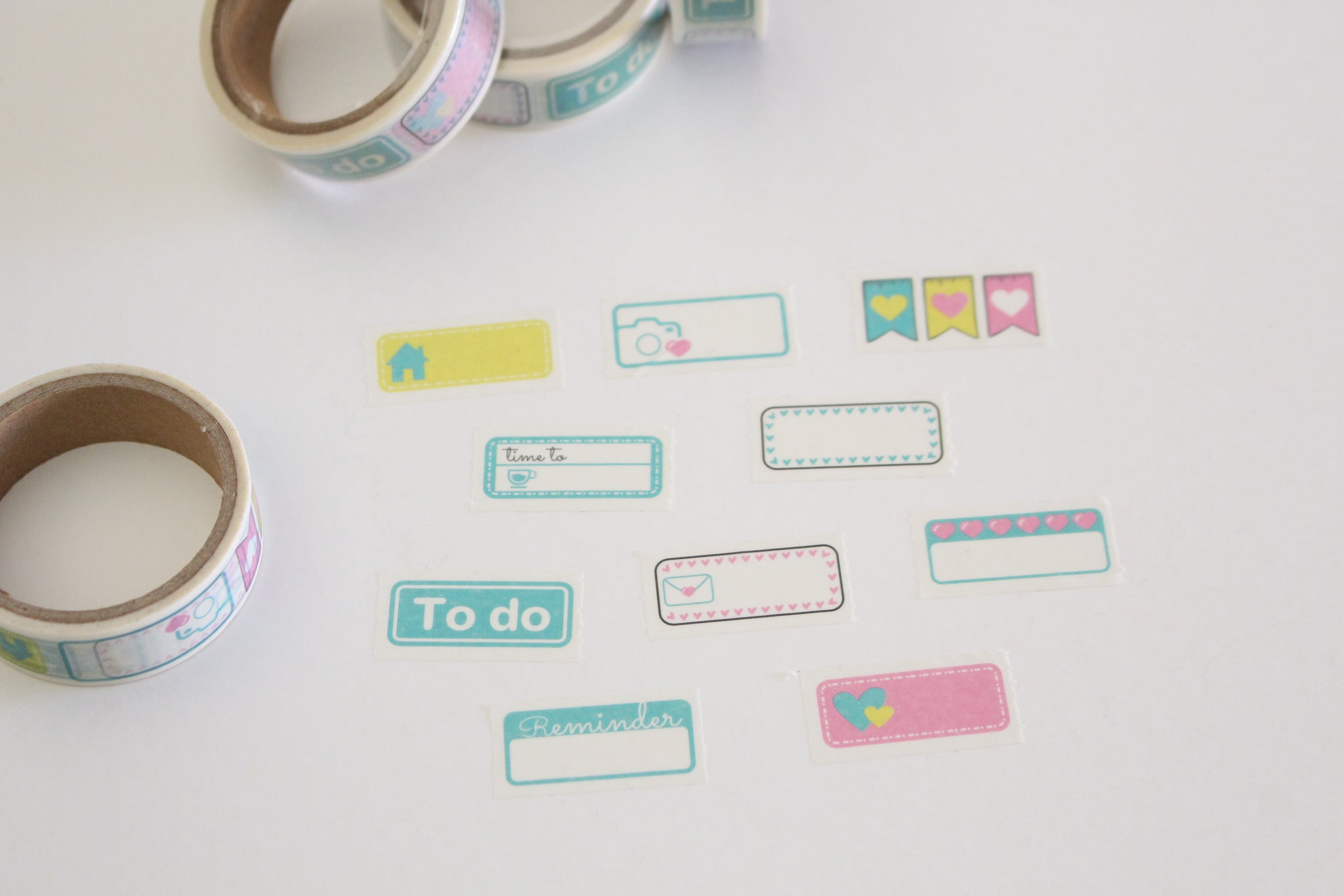 Planner reminder stickers washi tape, serrated washi tape