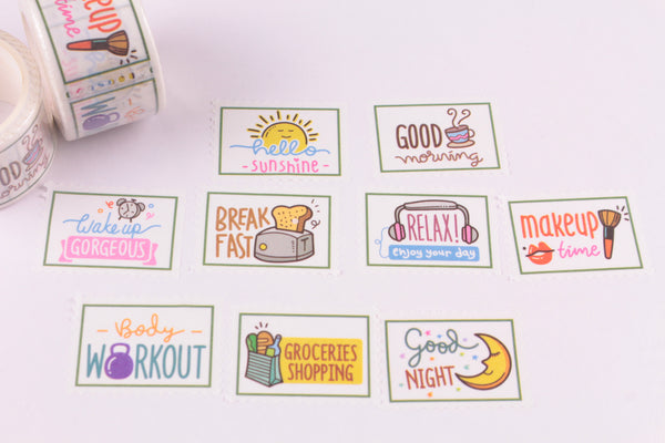 Plan Your Day Sticker Roll