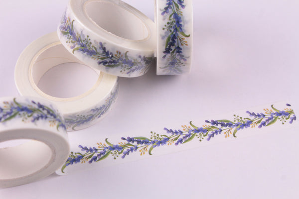 Purple Floral Vines Washi tape