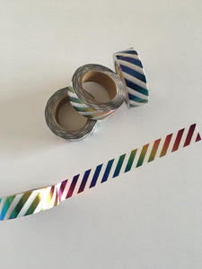 Rainbow Foil Stripes Washi tape