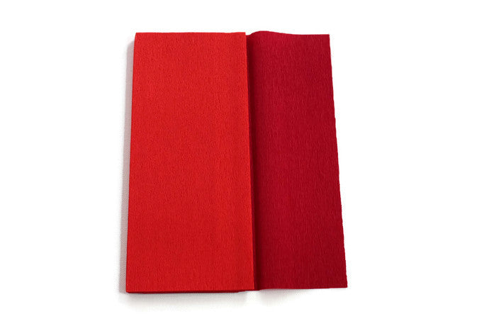 Gloria Doublette Crepe paper / Double sided crepe paper - Red & Cherry Red
