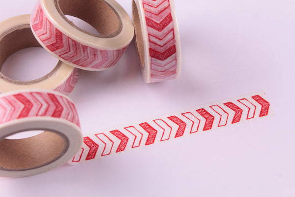 Red and White Arrows Washi tape