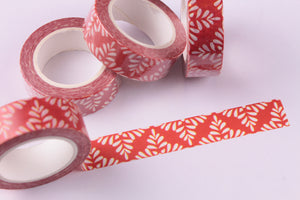 Festive Red and White Washi tape