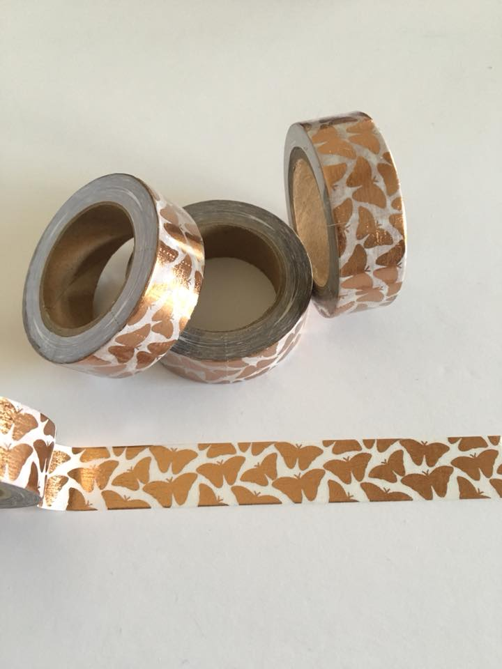 Rose Gold Foil Butterfly Washi tape