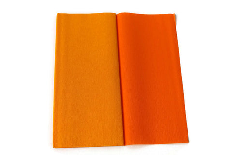 Gloria Doublette Crepe paper / Double sided crepe paper - Saffron Yellow & Orange
