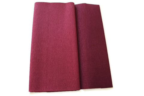 Gloria Doublette Crepe paper / Double sided crepe paper - Sangria & Aubergine