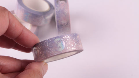 Silver Foil Lunar Constellations washi tape