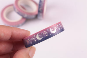 Silver Foil Ombre Night Sky Washi Tape