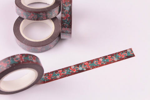 Skinny Christmas Boughs and Candy Canes Washi Tape