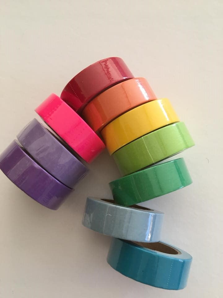 Solid Brights Washi Tape Set of 10