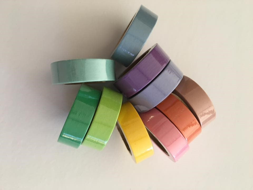 Solid Subtles Washi Tape Set of 10