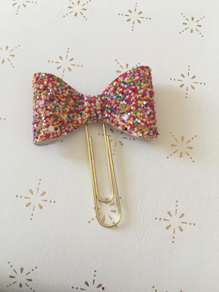 Sprinkles Planner Bow Clips
