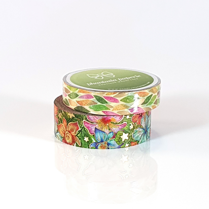 Tropical Bliss Washi Tape Duo - with Gold Foil Accents