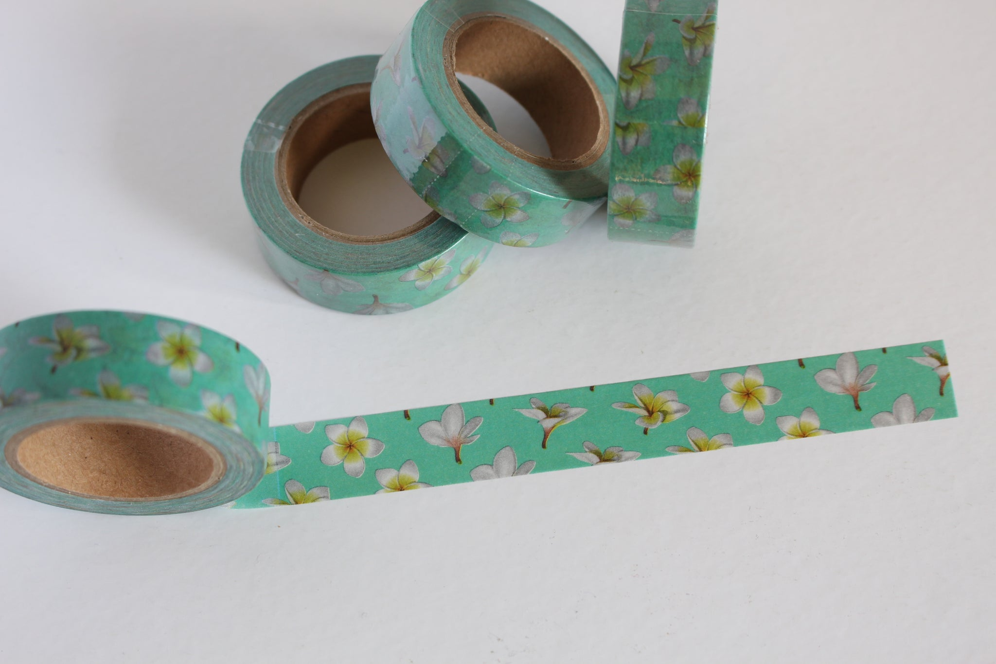 Tropical Frangipani Print Washi Tape