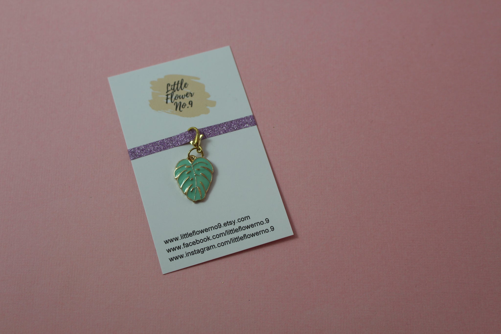 Tropical Leaf Planner Charm