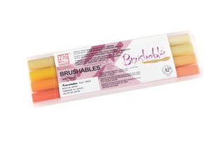 Kuretake - ZIG MEMORY SYSTEM BRUSHABLES - YELLOW (Set of 4)