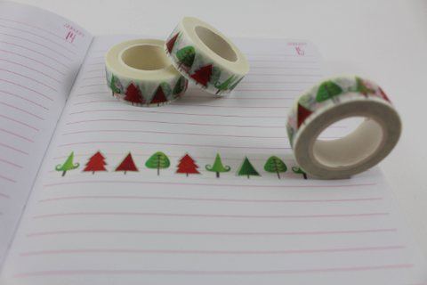 Christmas Trees Washi, Christmas washi tape
