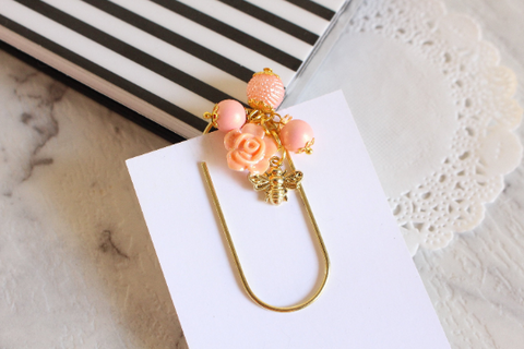 Golden Bee Planner Clips