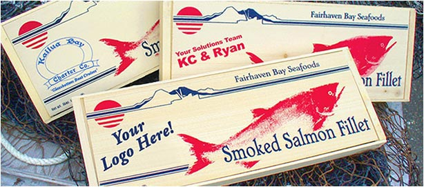 Business gift of wild smoked salmon