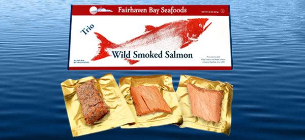 Wild Smoked Salmon Trio, 22 oz. Fiber Box