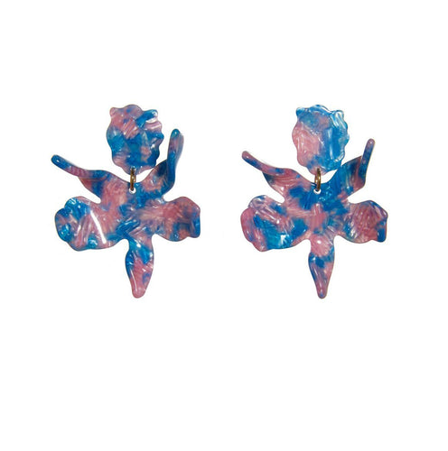 Cotton Candy Small Paper Lily Earrings