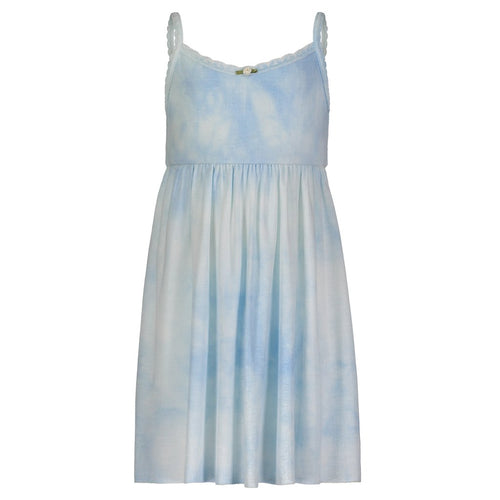 Girls Blue Tie Dye Babydoll Dress