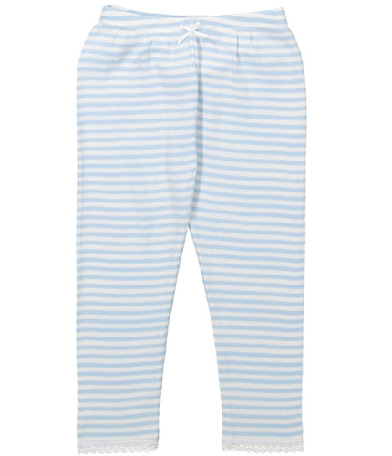 Girls Ocean Blue Sailor Stripe Pant PJ