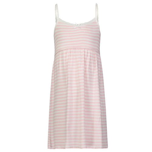 Girls Pink Sailor Stripe Babydoll Dress