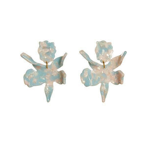 Sky Blue Small Paper Lily Earrings