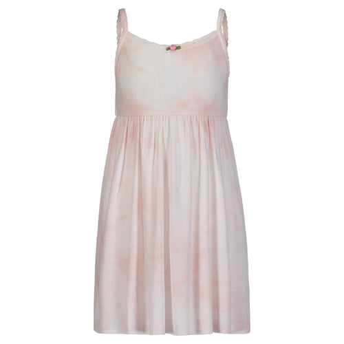 Girls Pink Tie Dye Babydoll Dress