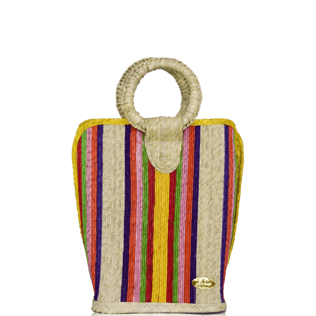 Quina Straw Bucket Bag in Pineapple | Medium