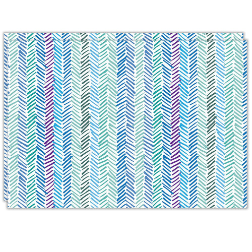 Rectangle Dailies® | Aqua Herringbone (2-Pack) - TingeDaily