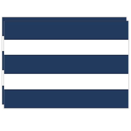Rectangle Dailies® | Navy Cabana Stripe (2-Pack) - TingeDaily