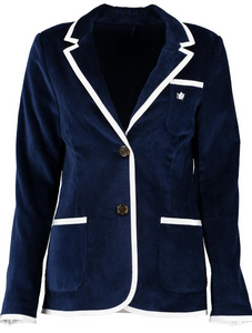 Women's Navy Terry Cloth Toweling Blazer